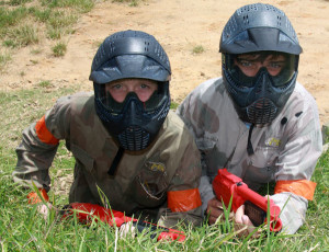 Miniball players at Delta Force Paintball Dingley Melbourne